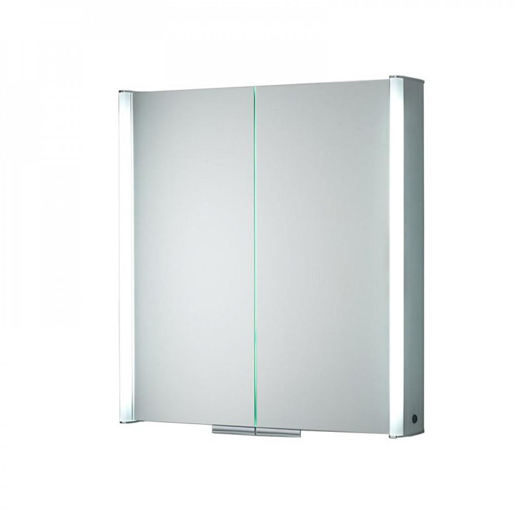 hib xenon 60 led aluminium illuminated bathroom cabinet