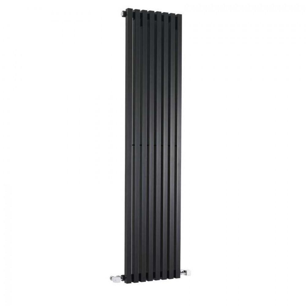 Hudson Reed Kinetic High Gloss Black Vertical Radiator HLB96 1800mm x 360mm