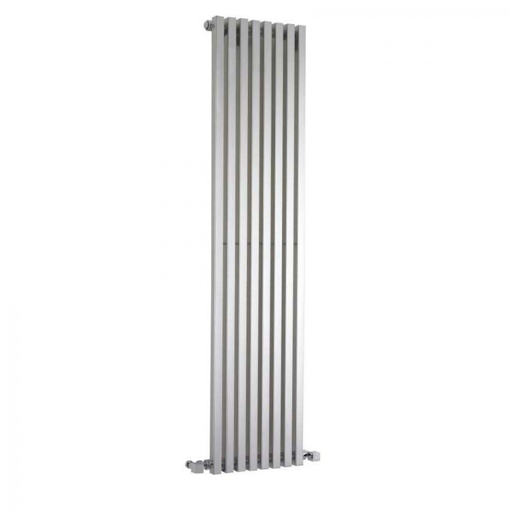 Hudson Reed Kinetic Vertical Radiator High Gloss Silver 1800mm x 360mm