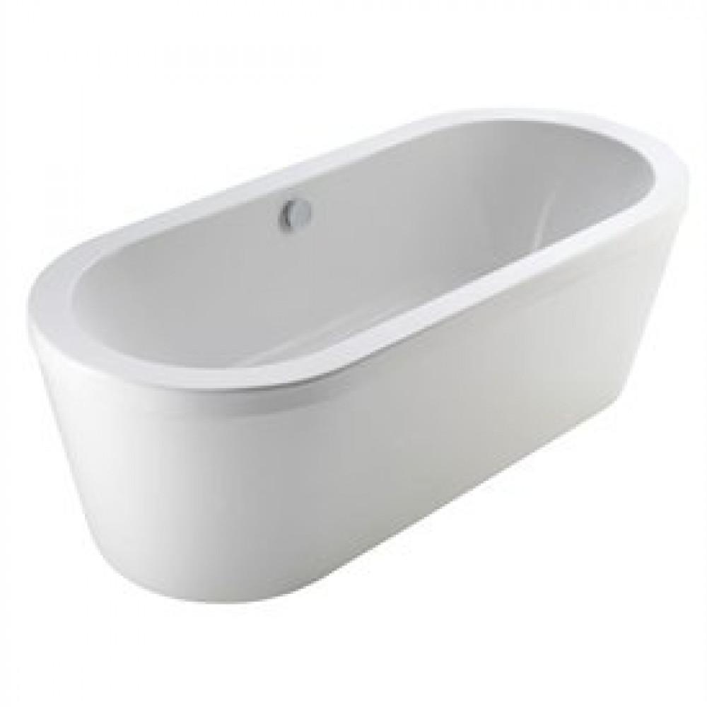 Essential Pebble 1700mm x 800mm Freestanding Bath
