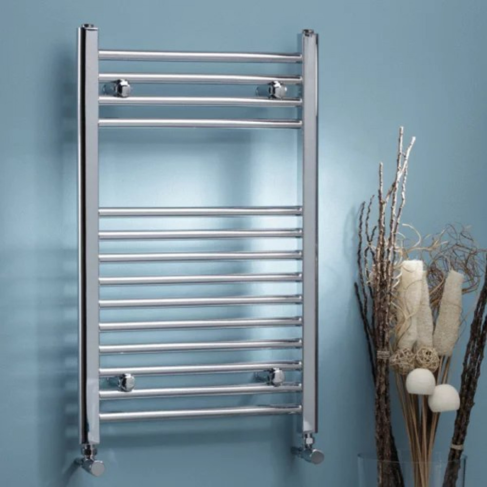 Kartell Electric Thermostatic Straight Heated Chrome Plated Towel Rail 500mm x 800mm