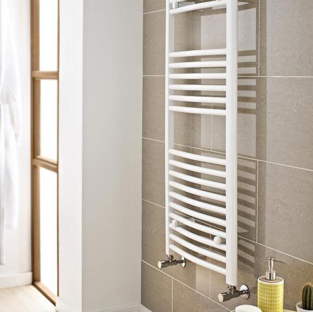 Kartell K-Rail 400 x 800mm White 22mm Curved Towel Rail