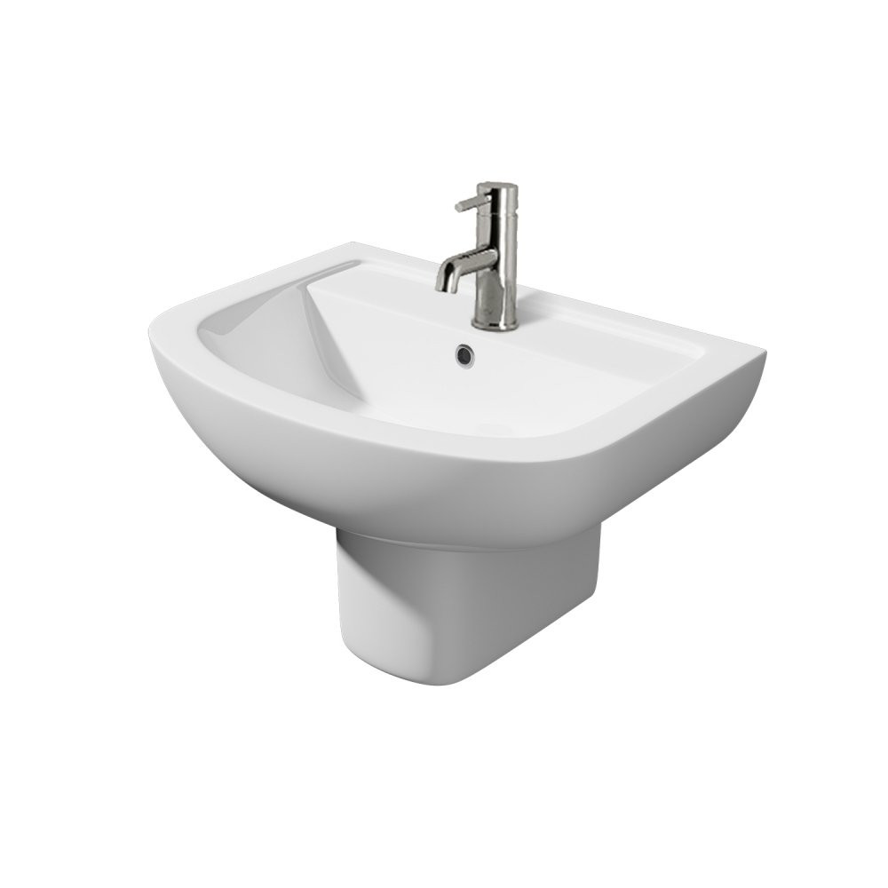 Kartell Studio 550mm 1th Basin with Semi Pedestal