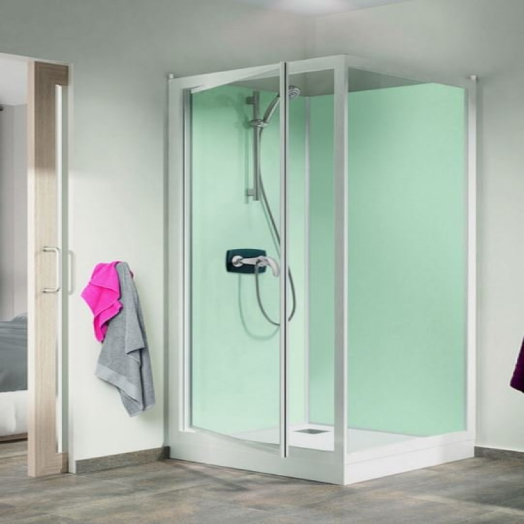 Kinedo Kineprime Glass 800 x 800mm Corner Pivot Shower Cubicle CA721TTN