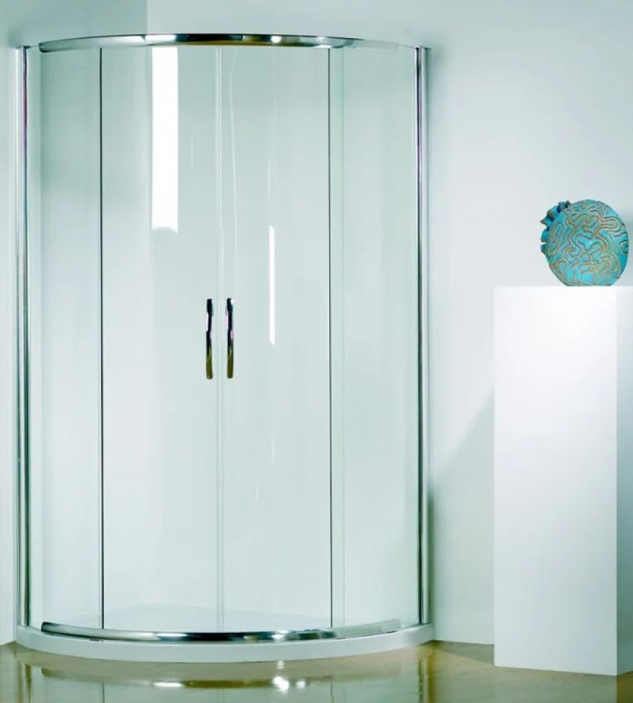 Kudos Infinite 1000mm Curved Sliding Door Enclosure with Centre Access 4CD100S