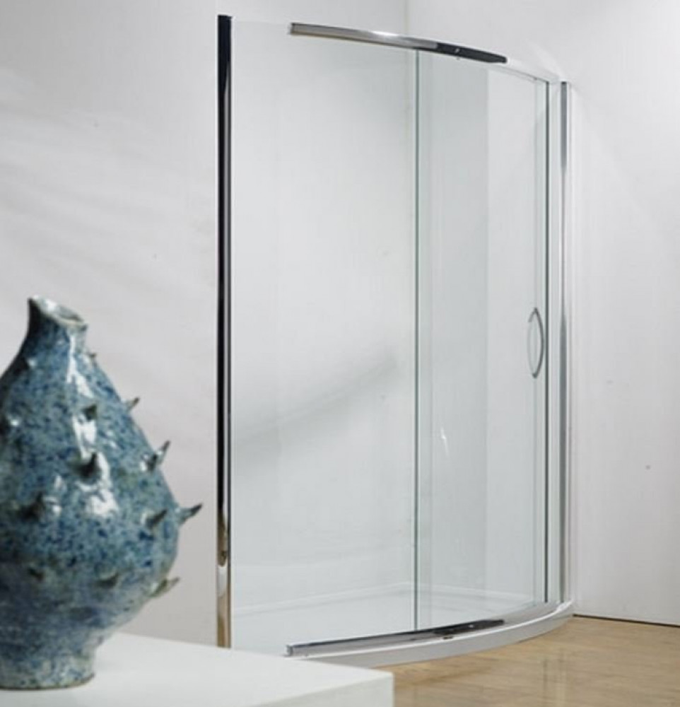 Kudos Infinite 1500mm Bowed Sliding Door Enclosure with Side Access 4BOWS150