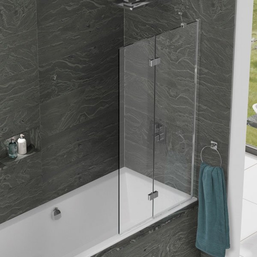 Kudos Inspire 2 Panel In-Fold Bath Screen 1500 x 875mm RH - 6mm Glass