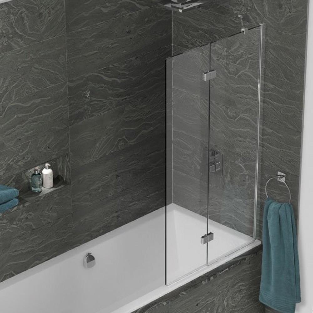 Kudos Inspire 2 Panel In-Fold Bath Screen 1500 x 875mm RH - 8mm Glass