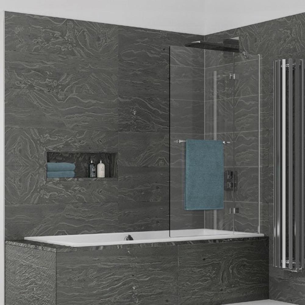 Kudos Inspire 2 Panel Out-Swing Bath Screen 1500 x 950mm RH - 8mm Glass