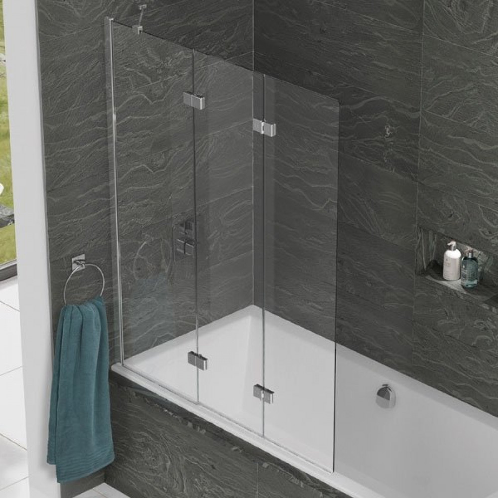 Kudos Inspire 3 Panel In-Fold Path Screen 1500 x 1250mm LH - 6mm Glass
