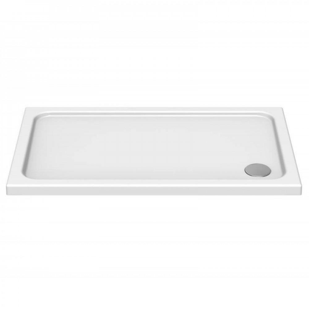 Kudos Kstone Slip Resistant 1100 x 760mm Rectangular Shower Tray with Corner Waste