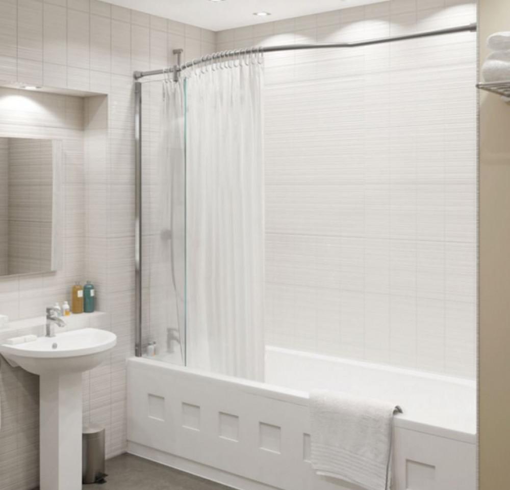 Kudos inspire Over-Bath Shower Panel & Recess Rail