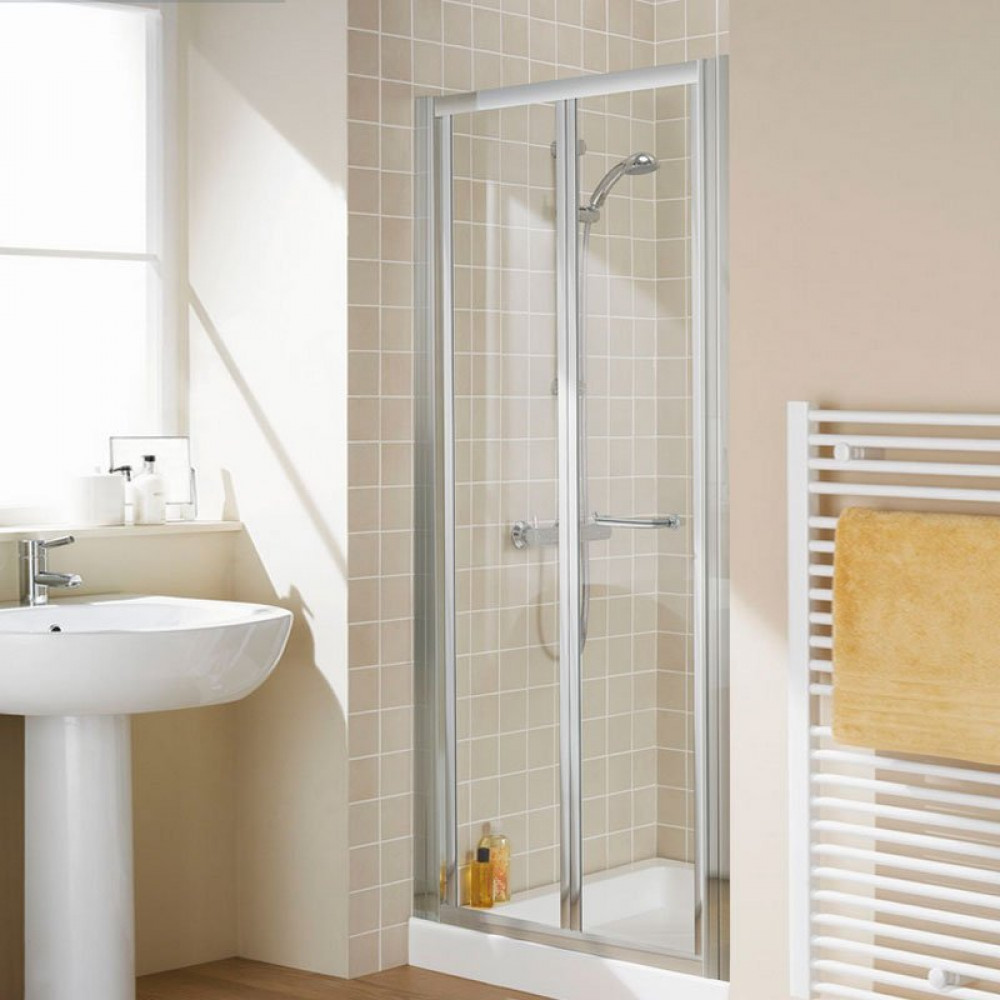 Lakes 1000mm Semi Frameless Bifold Shower Door