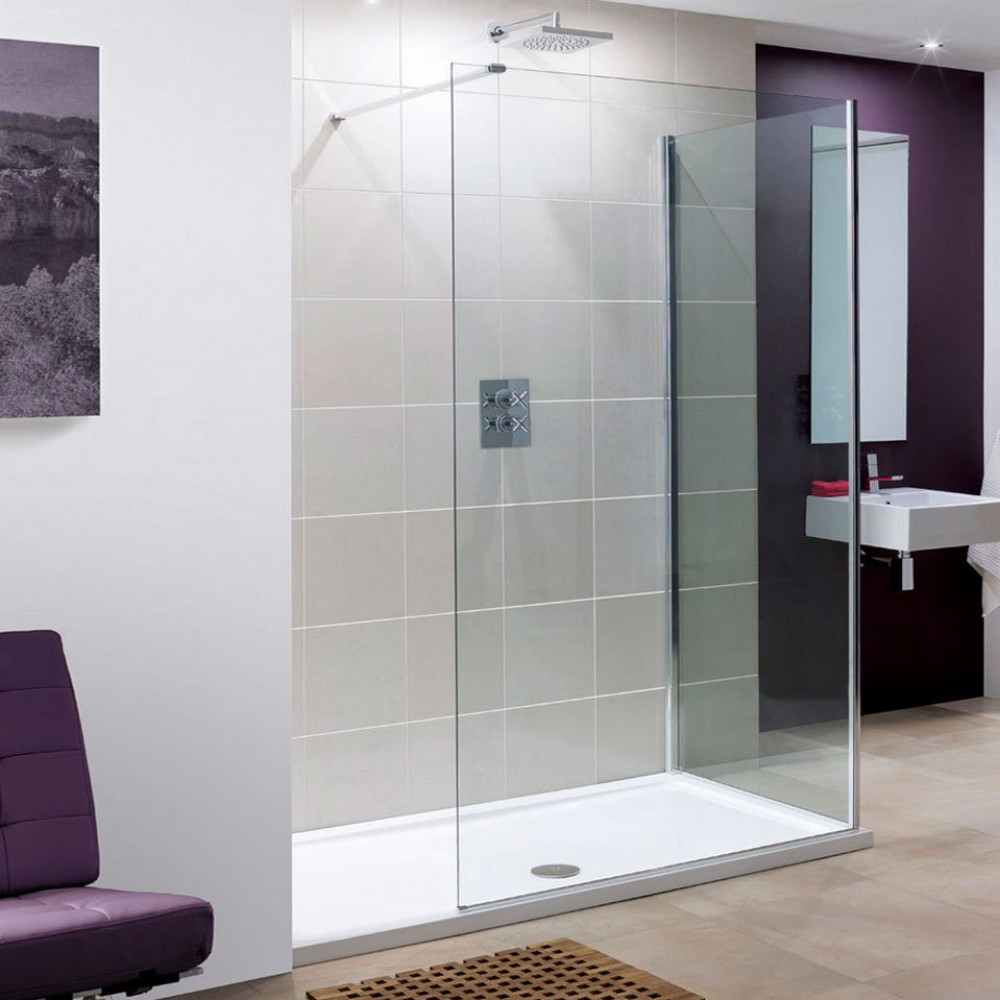 Lakes 1200mm Marseilles Walk In Shower Panel