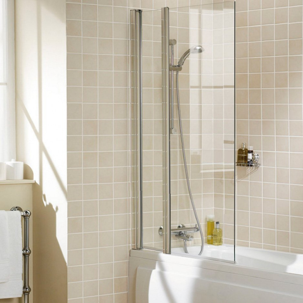 Lakes Bathrooms 944mm Double Square Shower Screen