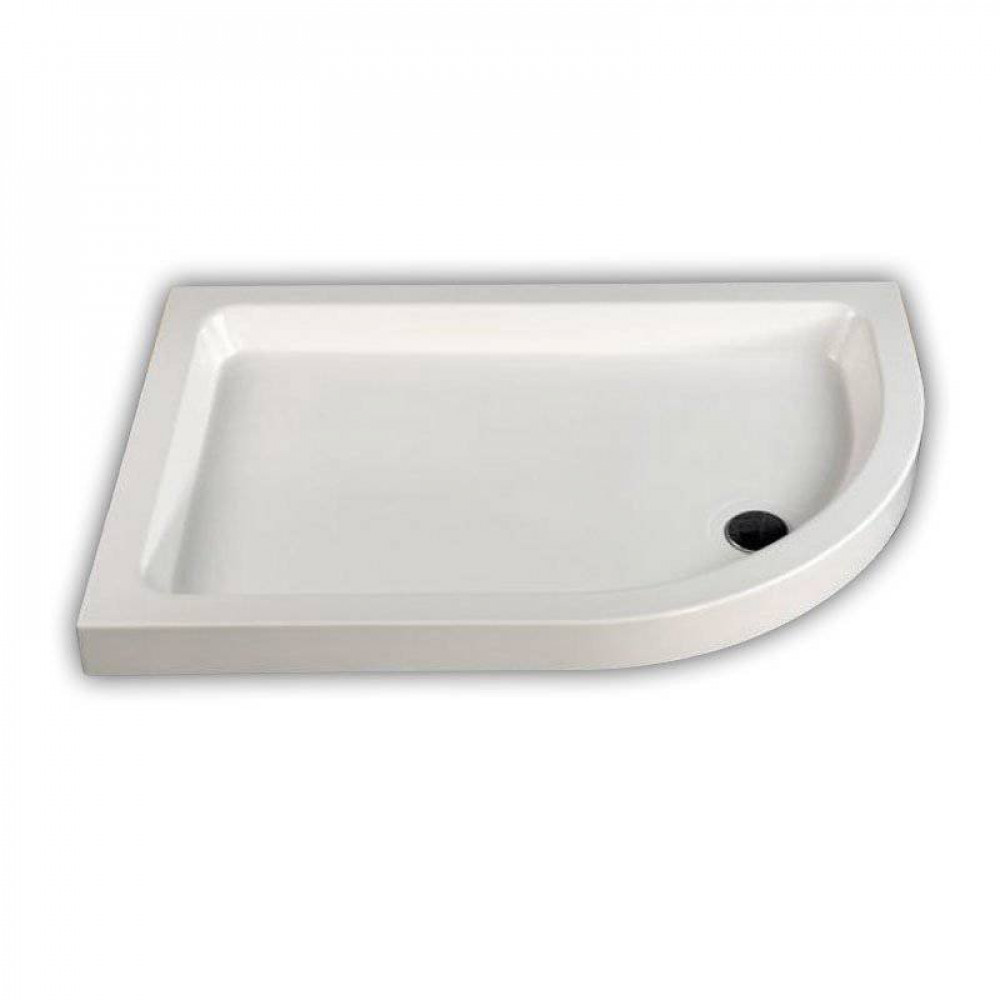 MX Classic Offset Quadrant Stone Resin Shower Tray 1000 x 800mm Right Hand