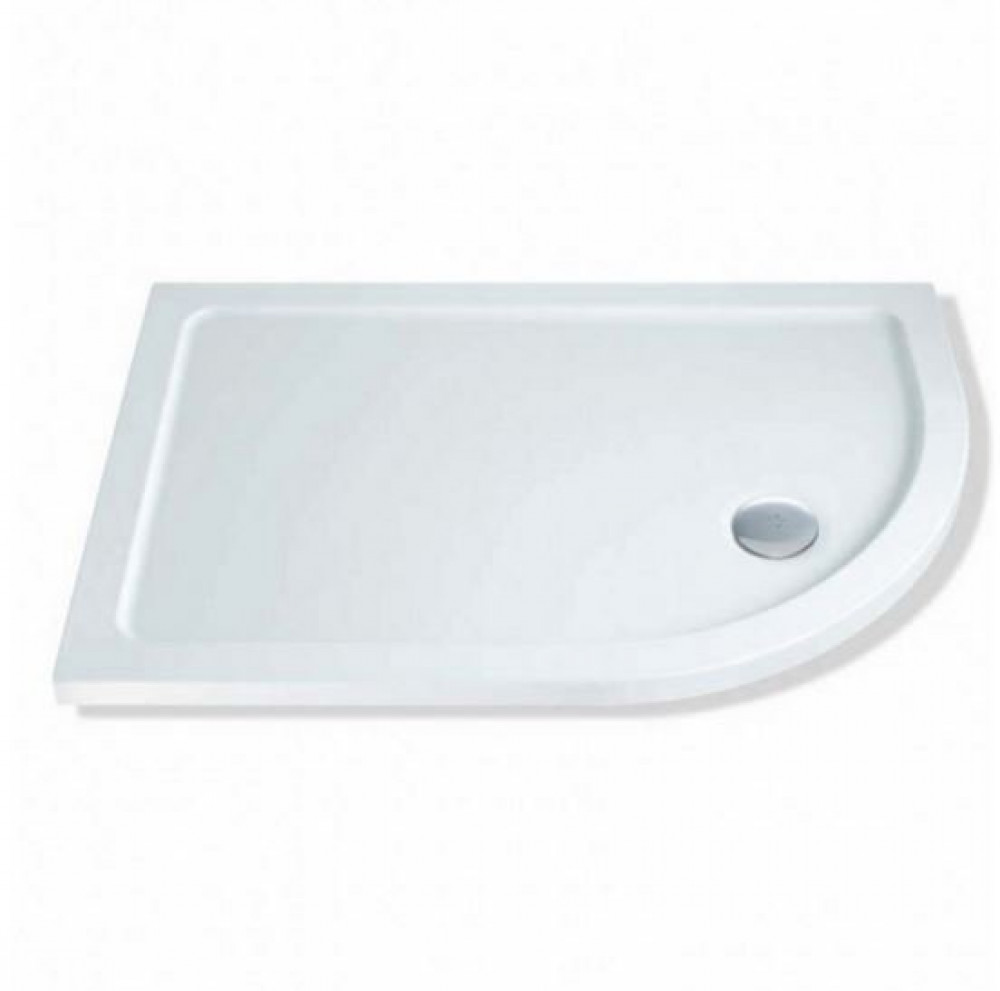 MX Elements 1300 x 800mm offset quadrant Right Hand shower tray