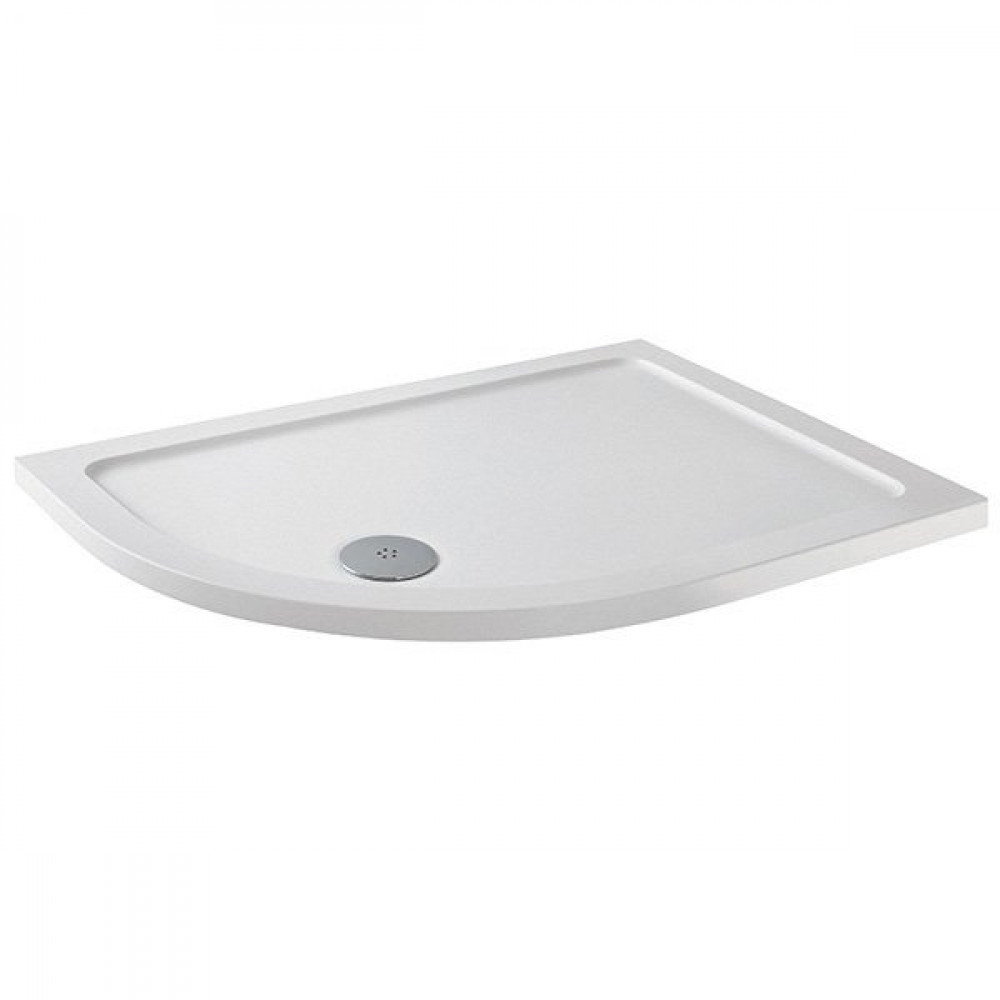 MX Elements 1200 x 900mm Left Hand Anti Slip Offset Quadrant Shower Tray with 90mm Waste