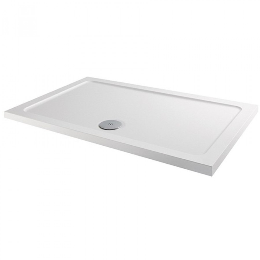 MX Elements 1500 x 800mm Anti Slip Rectangular Shower Tray with 90mm Waste