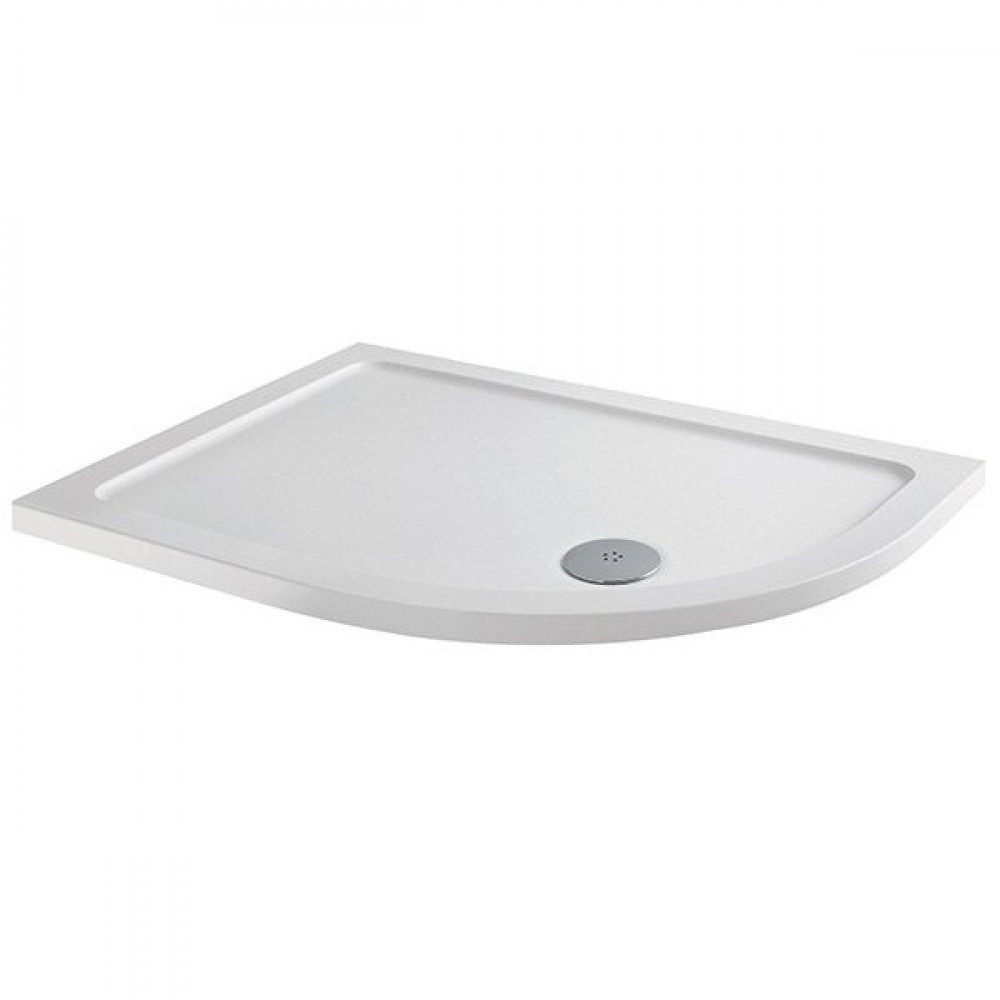 MX Elements 900 x 800mm Right Hand Anti Slip Offset Quadrant Shower Tray with 90mm Waste