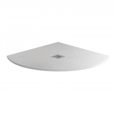 MX Minerals 800 X 800mm Quadrant Ice White Shower Tray