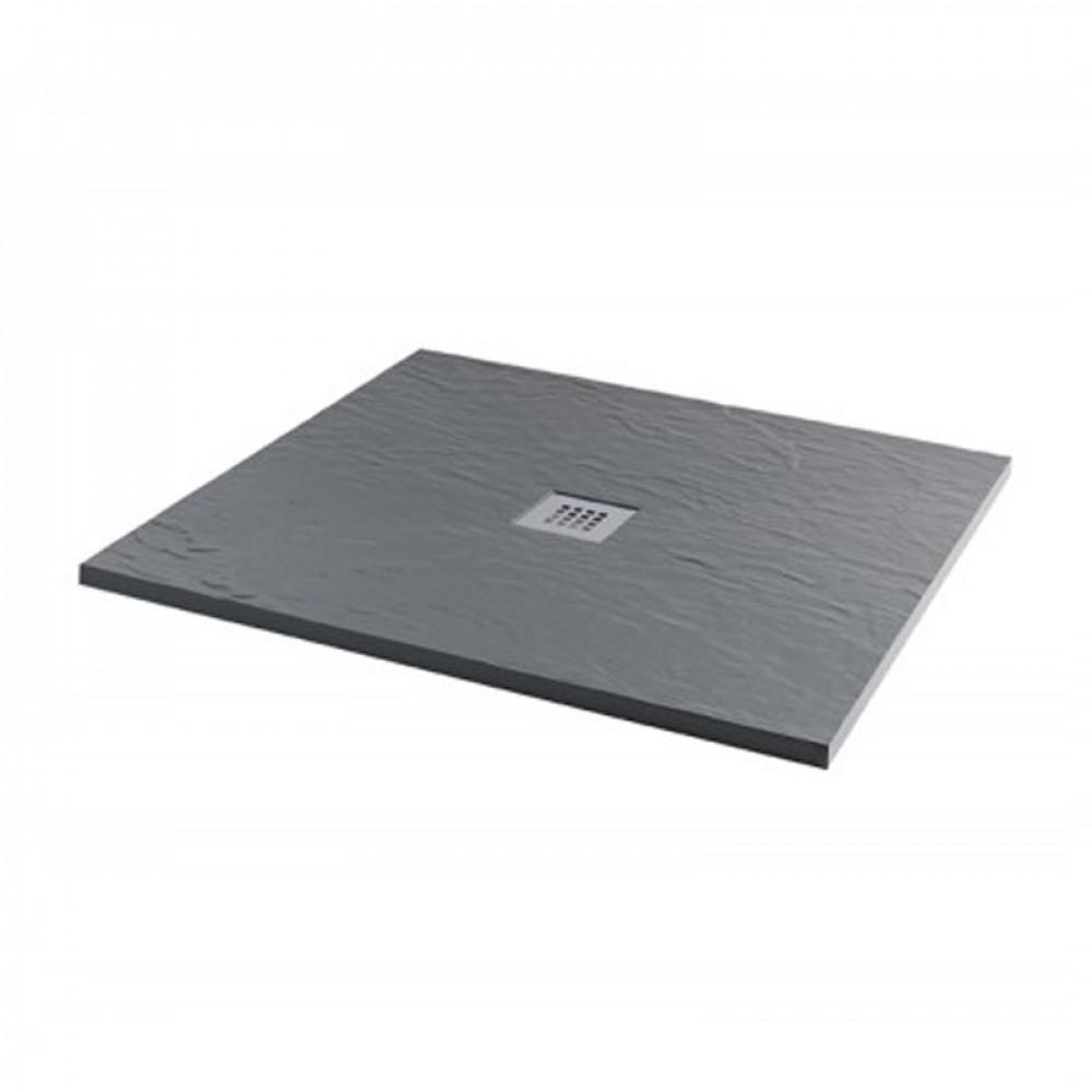 MX Minerals 1000 x 1000mm Square Ash Grey Shower Tray