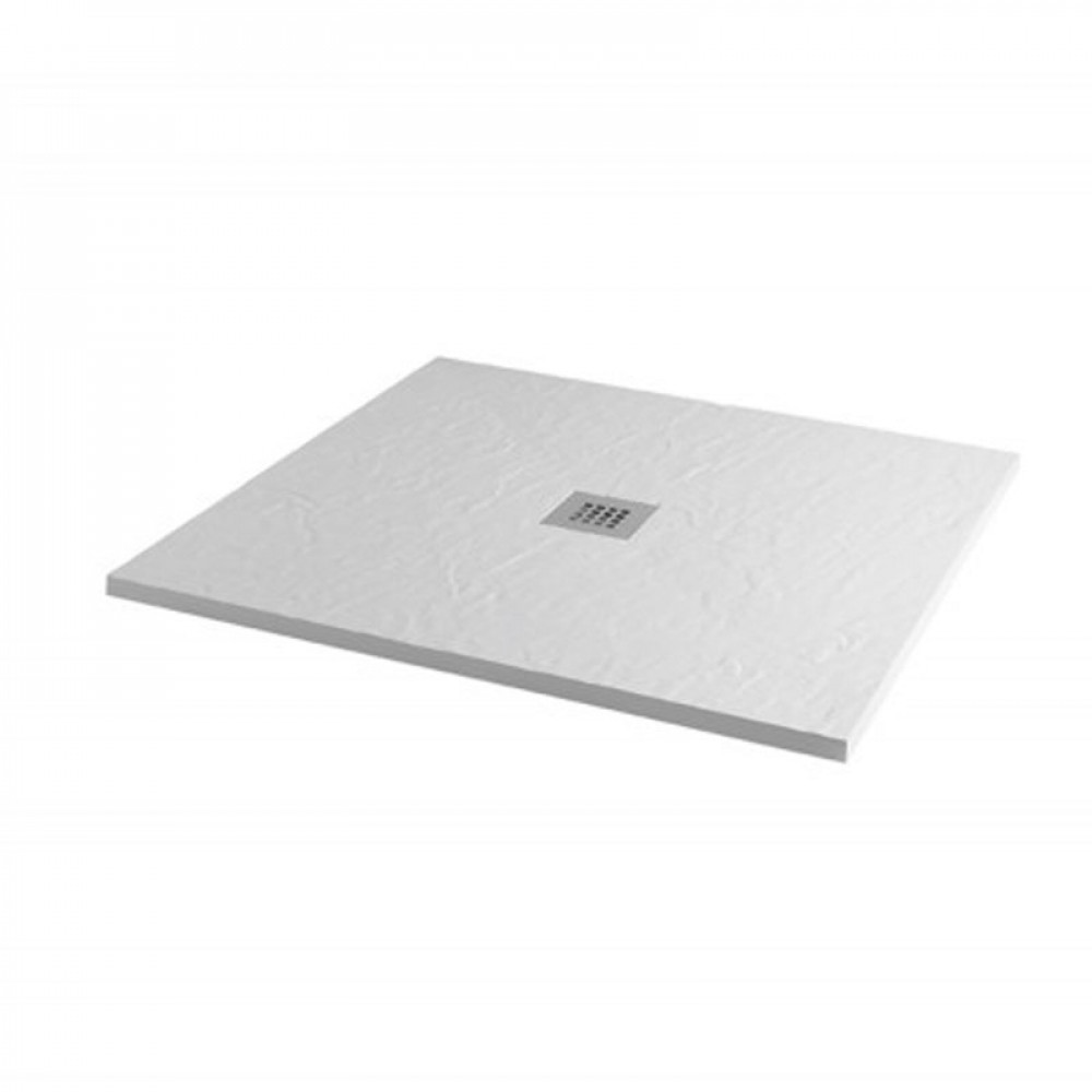 MX Minerals 1000 X 1000mm Square Ice White Shower Tray