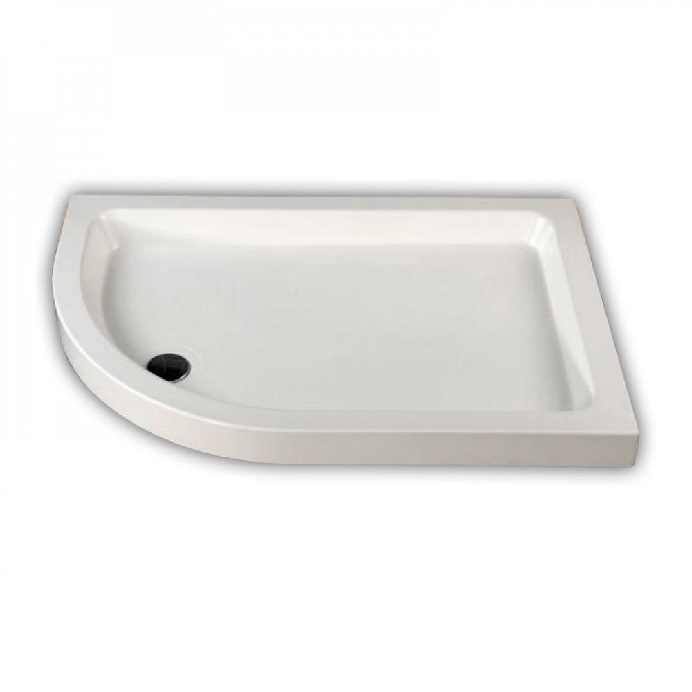 MX Offset Stone Resin Quadrant Shower Tray 900 x 800mm
