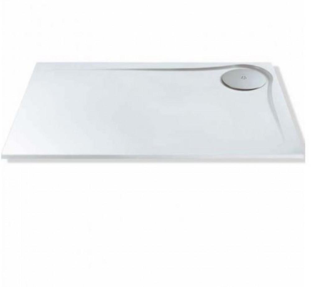 MX Optimum 1400 x 900mm Rectangular shower tray left hand