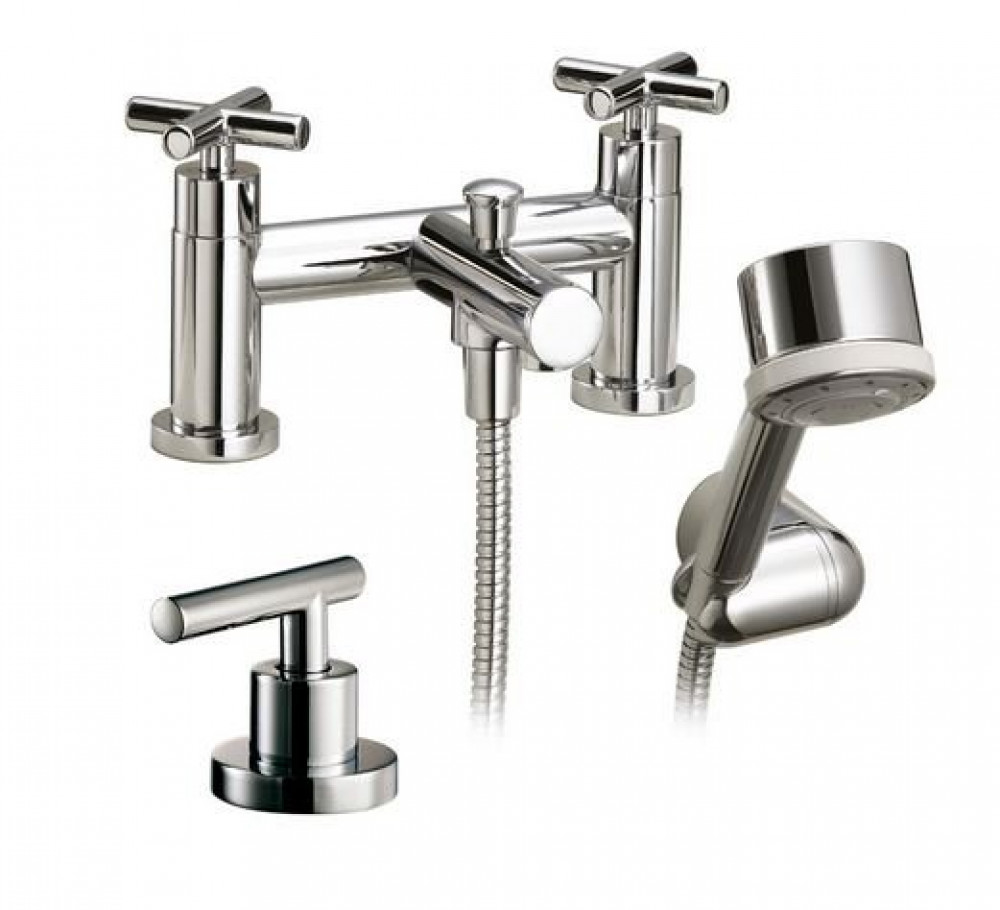 Marflow Exena Cross Head Bath Shower Mixer with Single Flow Handset