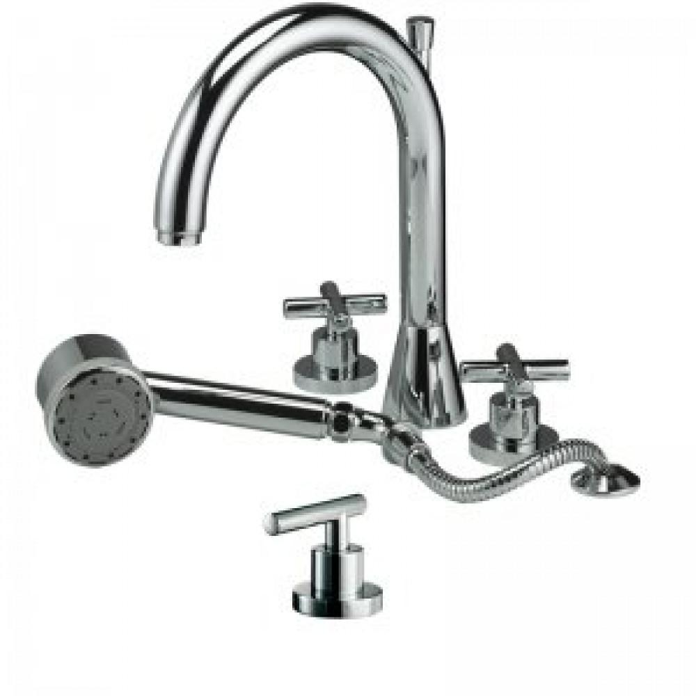 Marflow Exena Lever Four Hole Bath Shower Mixer