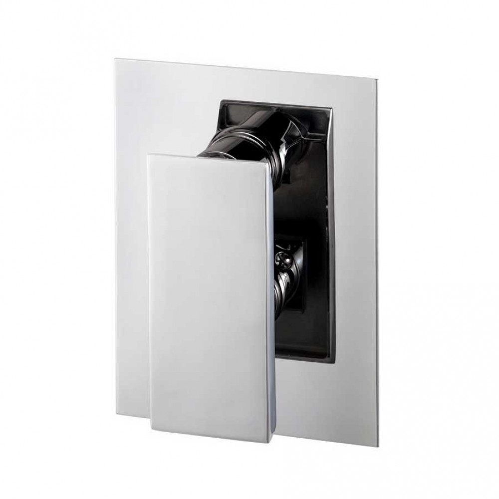 Marflow Oblique Thermostatic Shower Valve With Overhead Shower Arm