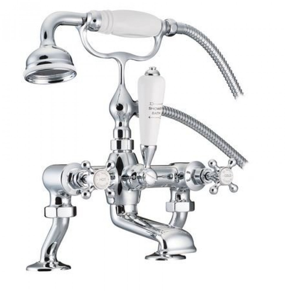 Marflow St James London Handle Bath/Shower Mixer with Cranked Legs