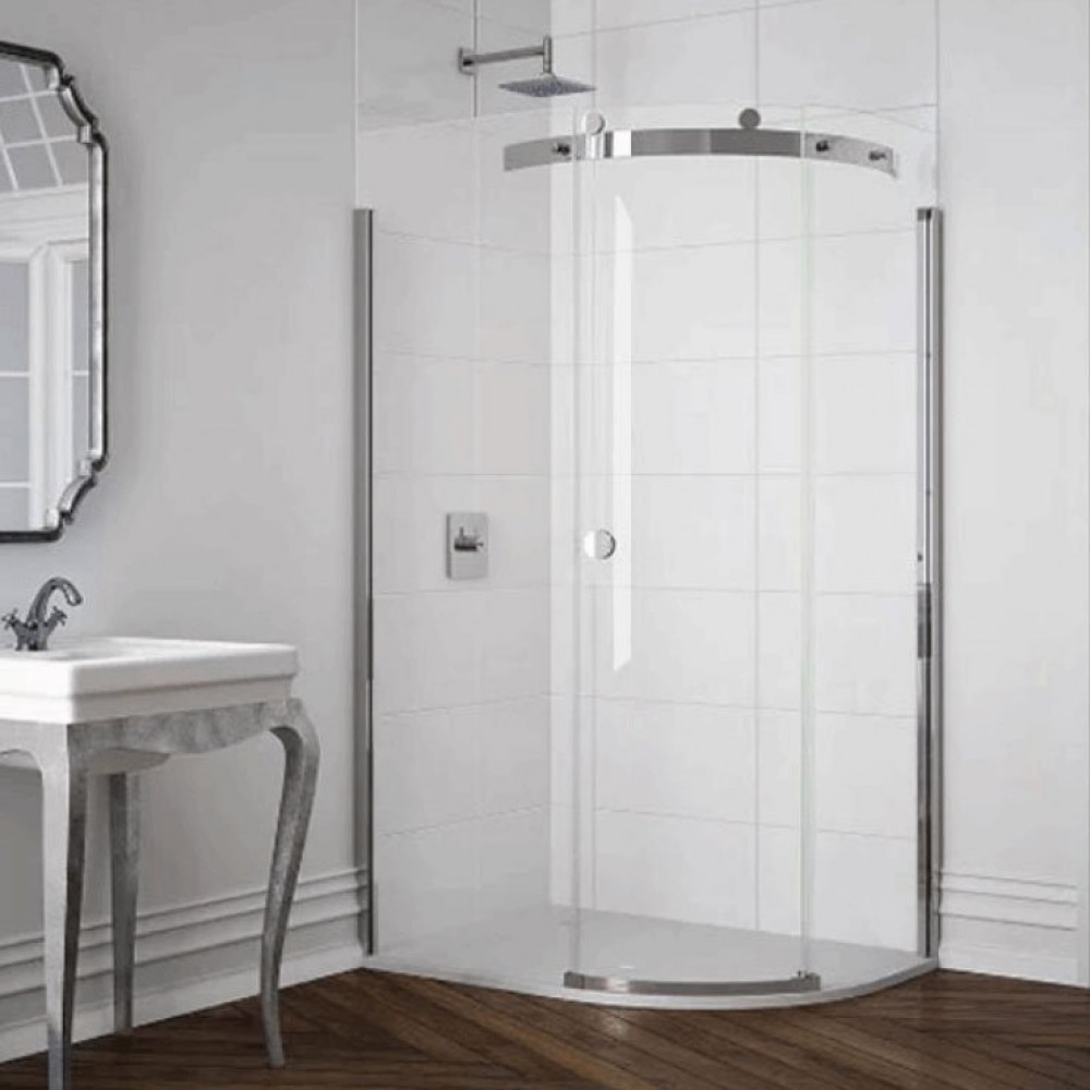 Merlyn 10 Series 1 Door Offset Quadrant Shower Enclosure 1200 x 800mm Right Hand with MStone Tray