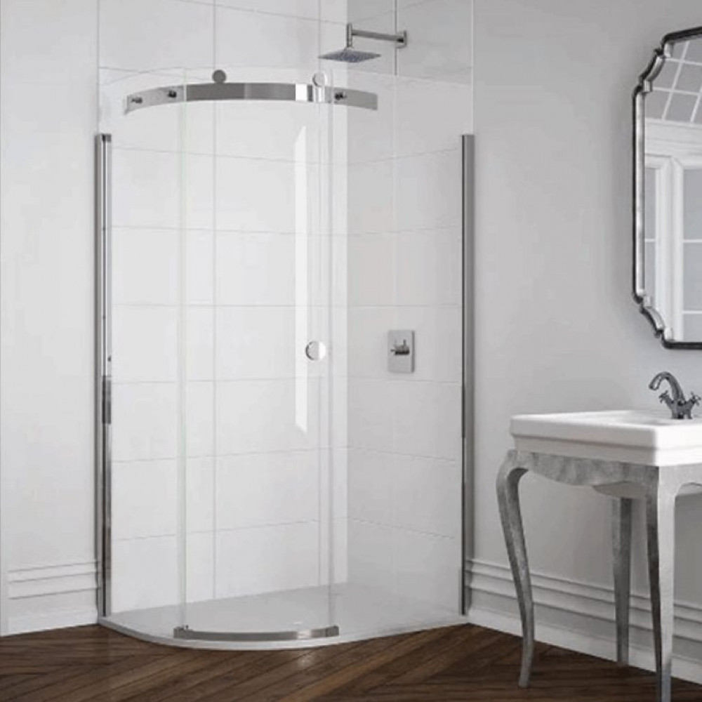 Merlyn 10 Series 1 Door Offset Quadrant Shower Enclosure 1200 x 800mm Left Hand with MStone Tray