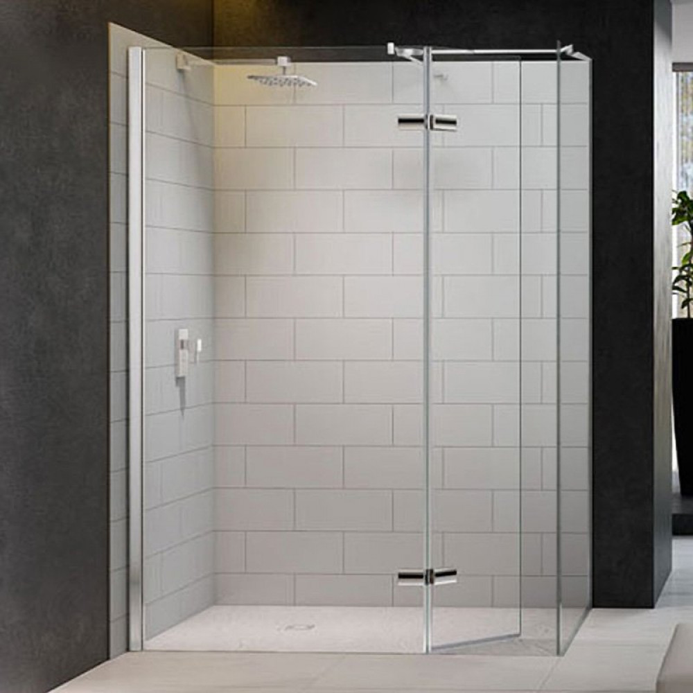 Merlyn 8 Series 1500 x 800mm Walk in Enclosure with Hinged Swivel Panel