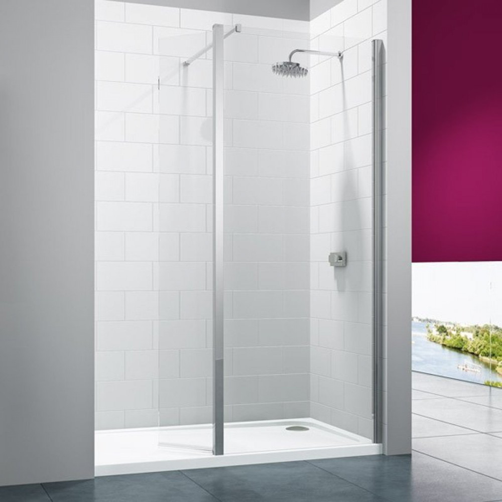 Merlyn 8 Series 900mm Showerwall with 300mm Swivel Panel