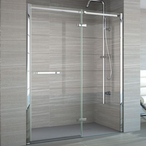 Merlyn 8 Series Frameless 900mm Hinge & Inline Shower Door