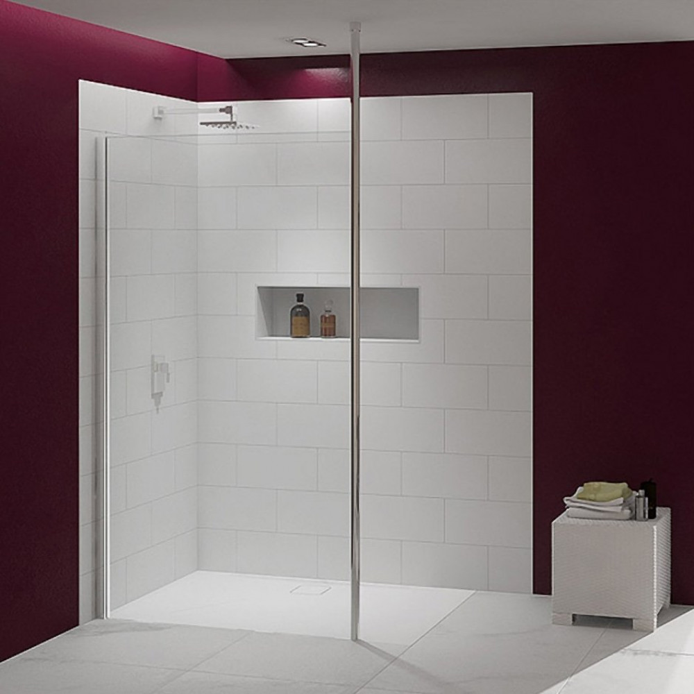 Merlyn 8 Series 1200mm Showerwall with Vertical Post
