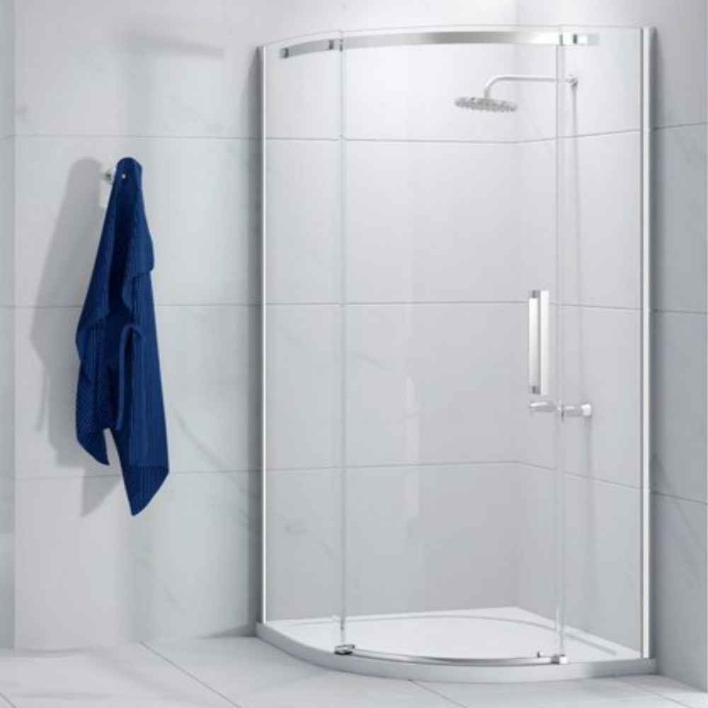 Merlyn Ionic Essence Frameless 900mm 1 door left-hand quadrant enclosure