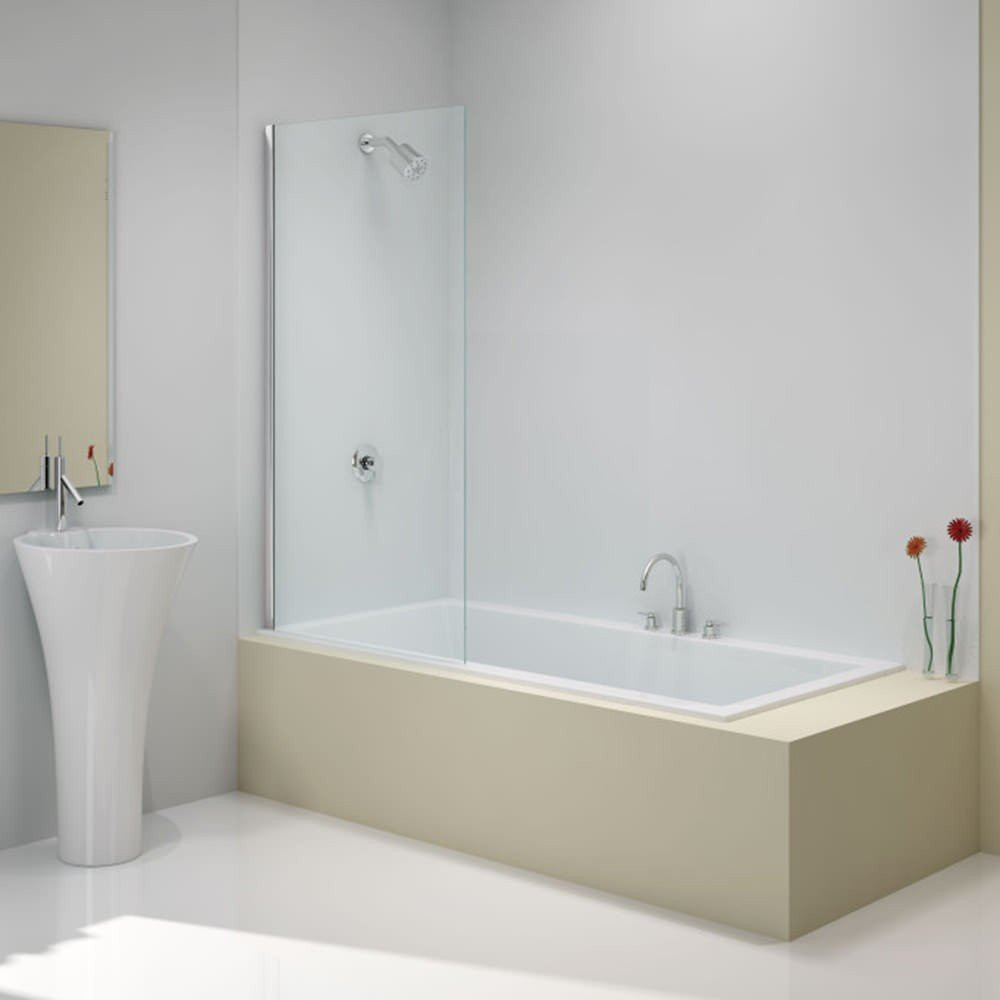 Merlyn Mbox Fixed Square Bathscreen 800 x 1500mm