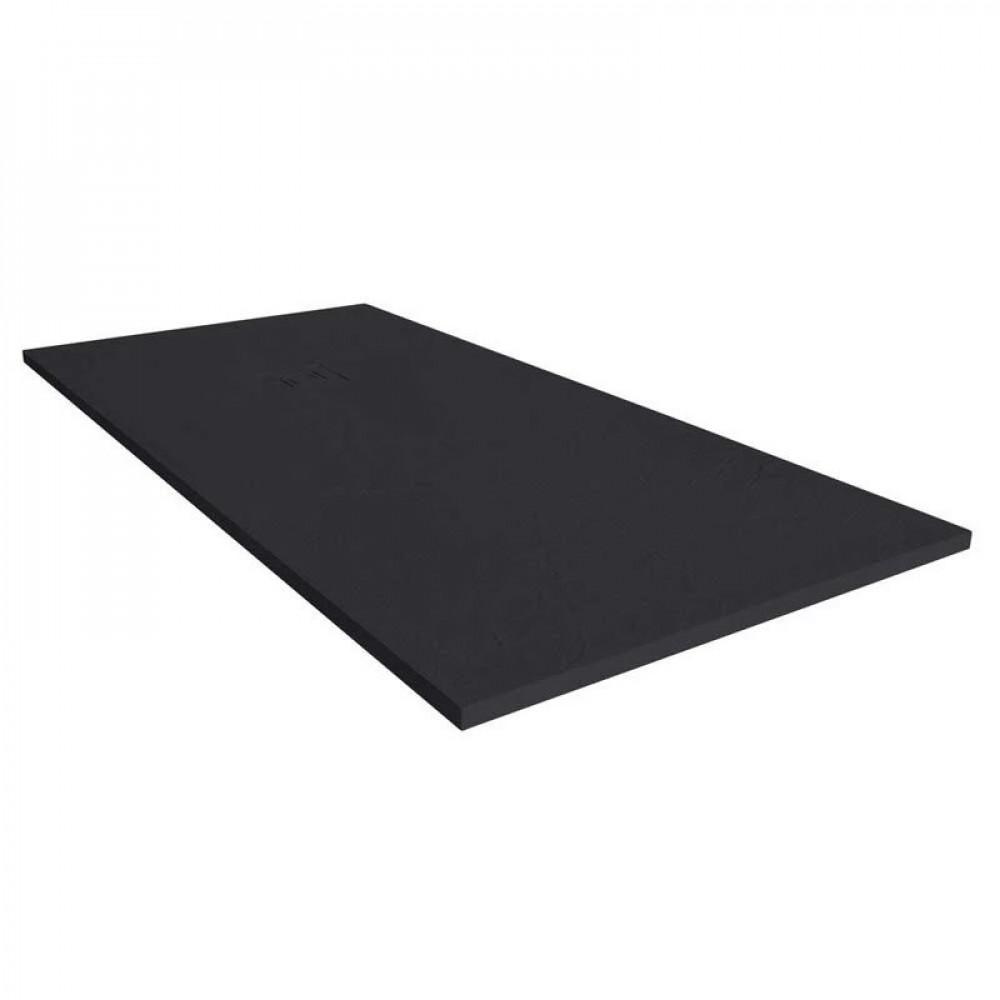 S2Y-Merlyn Truestone 1000 x 800mm Pure Black Rectangular Shower Tray-1