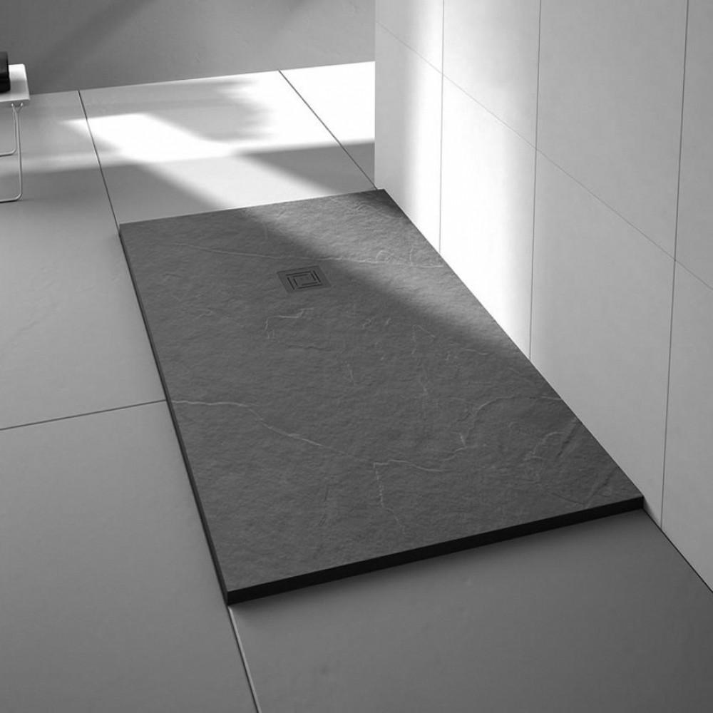 Merlyn Truestone 1000 x 800mm Slate Black Rectangular Tray