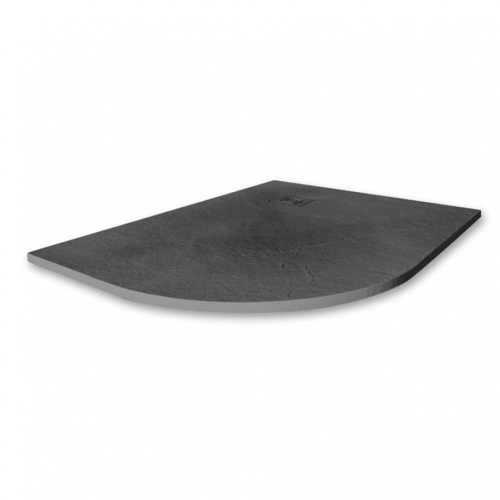 Merlyn Truestone 1200 x 900mm Slate Black Offset Quadrant Left Hand Tray