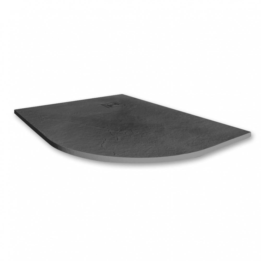 Merlyn Truestone 1200 x 900mm Slate Black Offset Quadrant Right Hand Tray