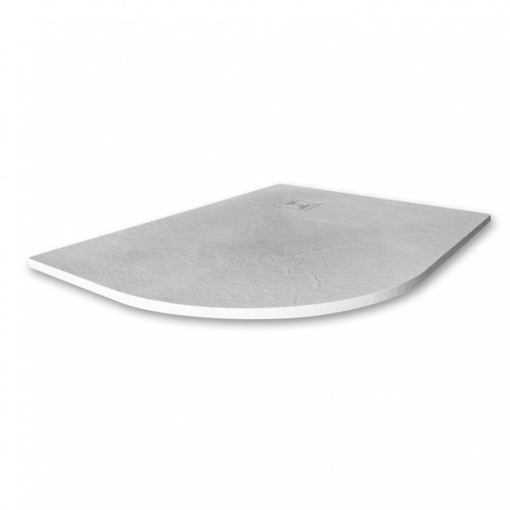 Merlyn Truestone 1200 x 900mm White Offset Quadrant Left Hand Tray