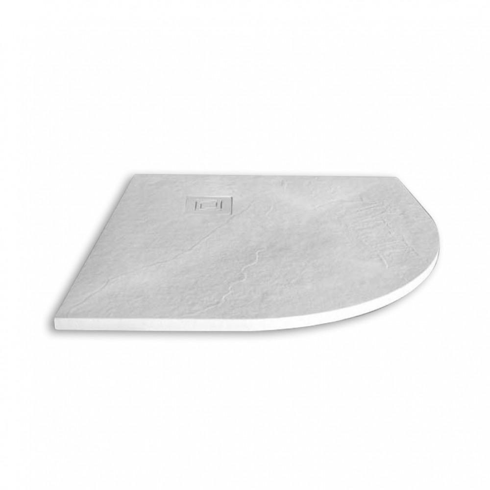Merlyn Truestone 900 x 900mm White Quadrant Tray
