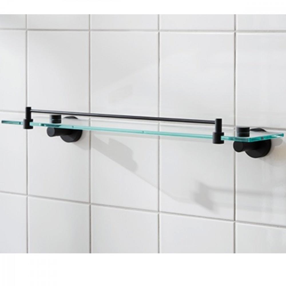 Miller Bond Matt Black Shelf with Guard Rail