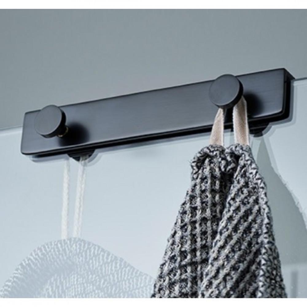 Miller Classic Black Shower Door and Screen Fitting 4 Hook