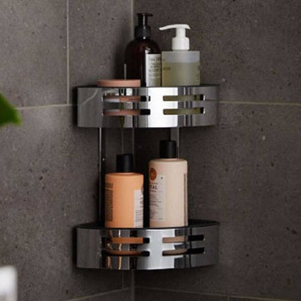 Miller Classic Two Tier Corner Shower Tidy with Tray